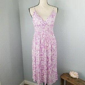GAP sleeveless plunge print dress Size Large